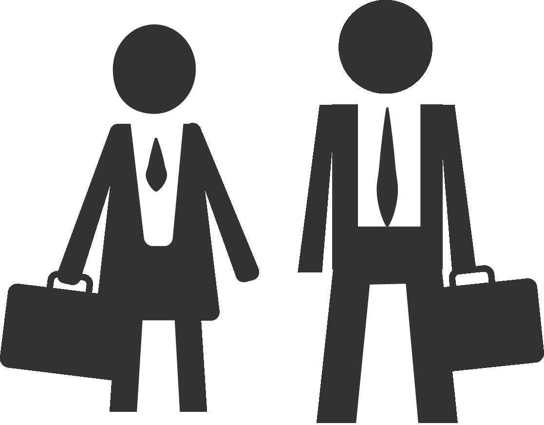 Piktogramm von Business-Woman und Business-Mann