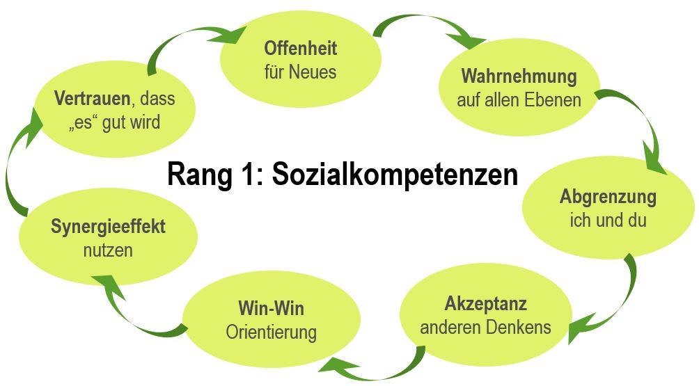 Sozialkompetenzen: Vertrauen - Offenheit - Wahrnehmung - Abgrenzung - Akzeptanz - Win-Win - Synergieeffekte - Vertrauen